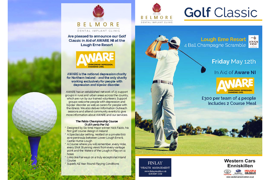 We supported Belmore Dental / Aware NI Golf Event