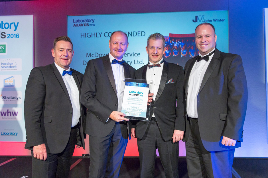 Highly Commended in Best Dental Laboratory at the Dental Laboratory Awards 2016