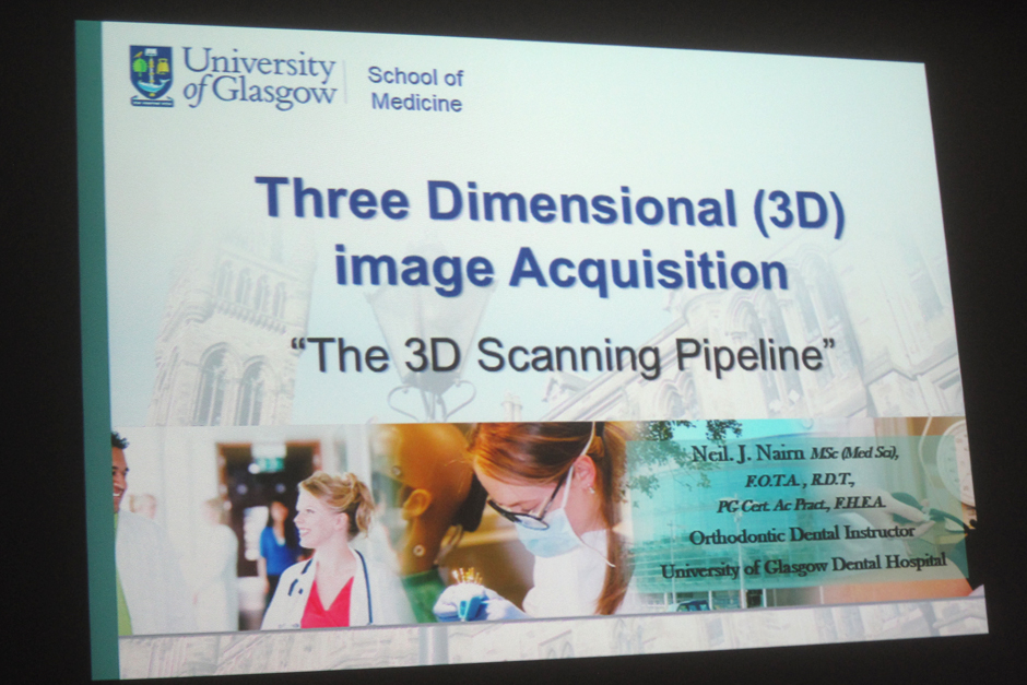 Neil Nairn talking on Three Dimensional (3D) image Acquisition, form Glasgow University