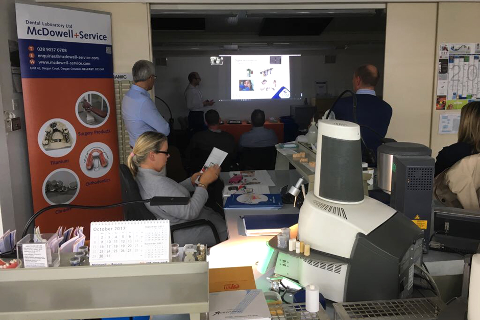 Mark Barry Presenting Practical Applications of Digital Dentistry and a Demo of the new Wireless Trios 3Shape Scanner