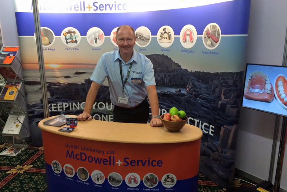 Stephen Ginn at our new stand