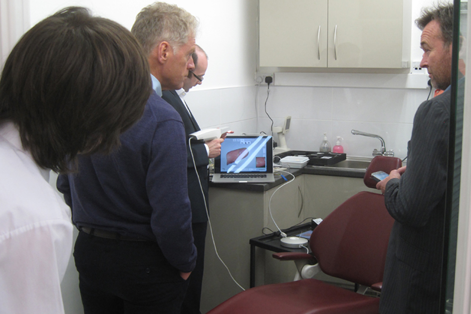 Trios Scanner Demonstration in Patient Room