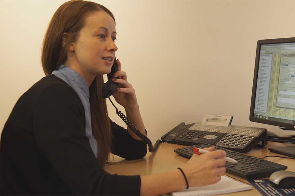 Suzanne Taking Client Enquiries